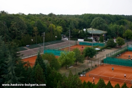 THE TENNIS COMPLEX IN THE TOWN OF HASKOVO